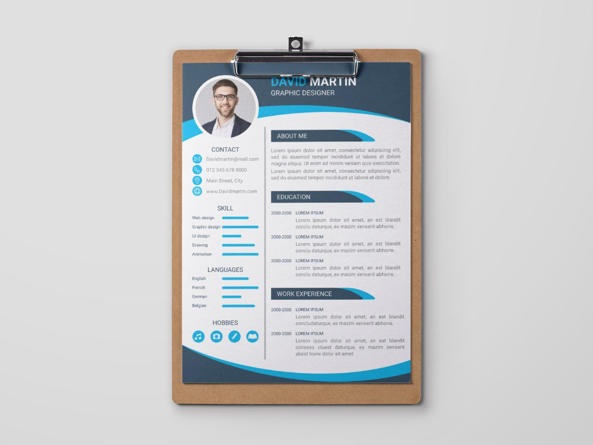 Free Professional Curriculum Vitae Template By James Han Dribbble