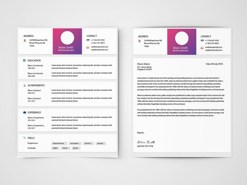 Free Marketer Resume Template Marketing Illustrator Curriculum Vitae