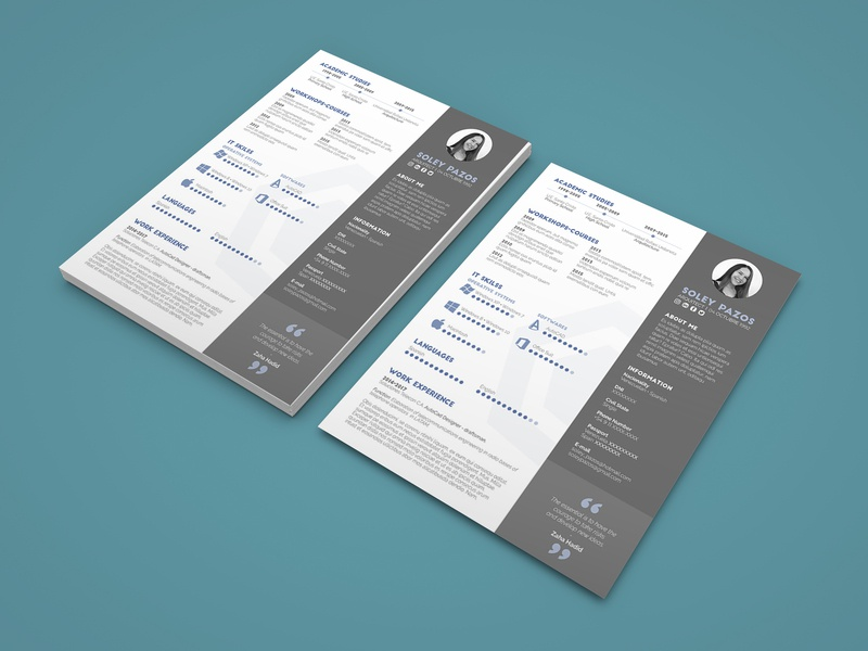 Free Architect Resume Template Architechture Indesign Curriculum Vitae