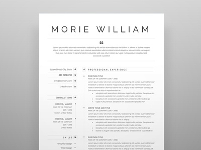 Free Two Page Resume & Matching Cover Letter