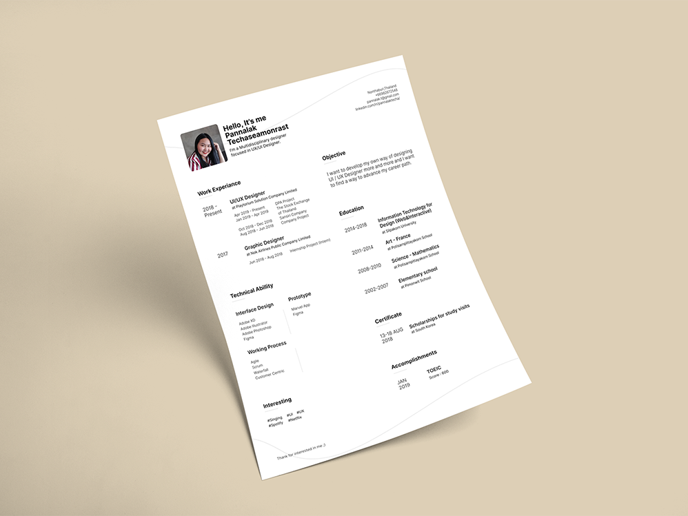 Free Figma Resume Template By James Han On Dribbble