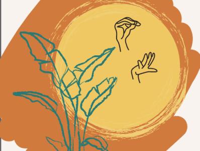 SUN sign language web app design illustration