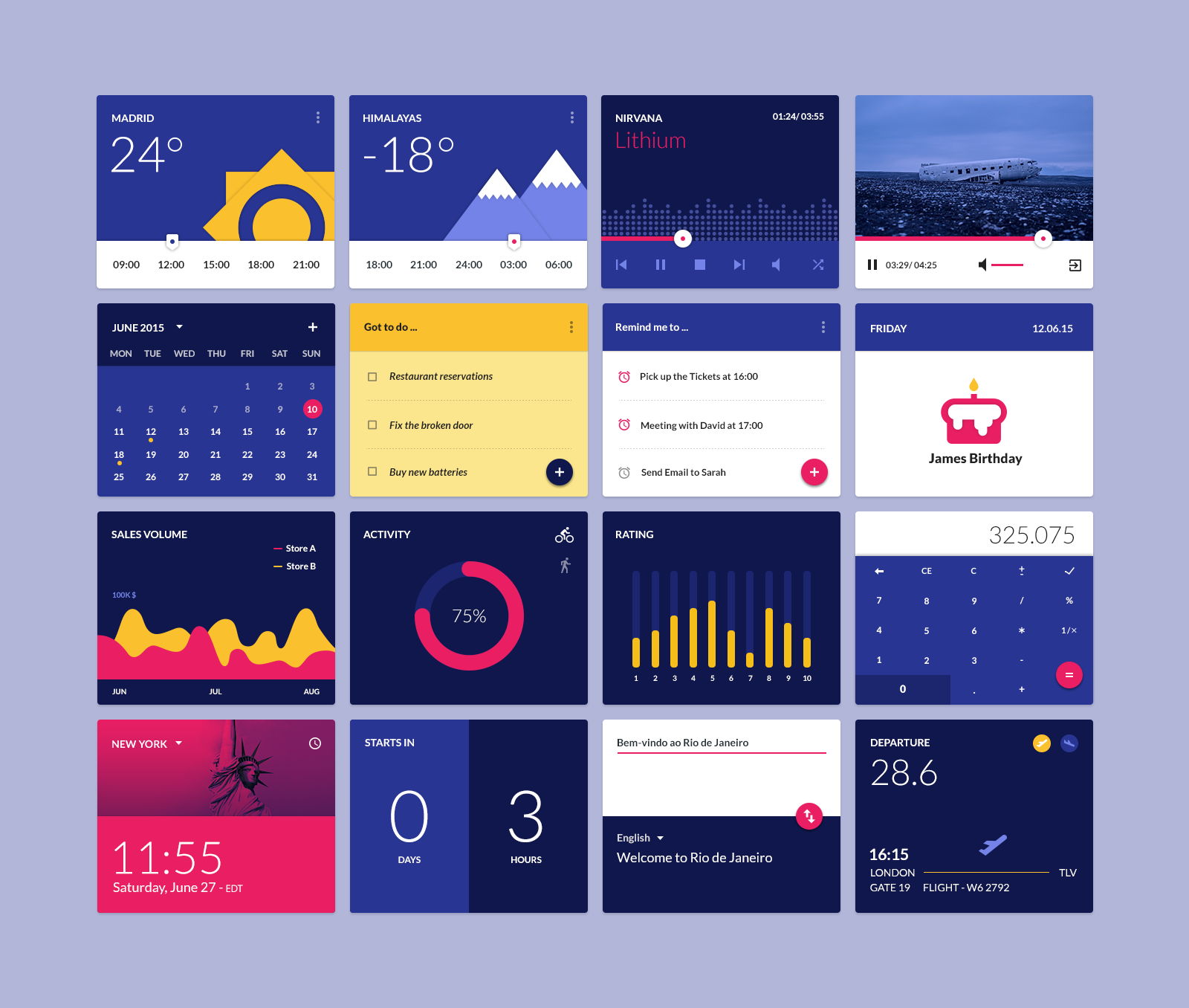 Material design widgets ui kit