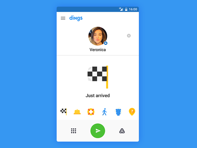 Dings mobile gui material design ui android app