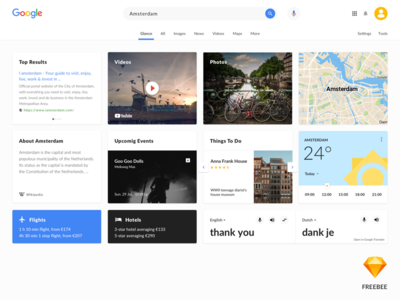 Google serach redesign - Sketch freebee sketch freebee google search