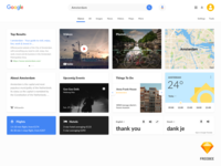 Google serach redesign - Sketch freebee