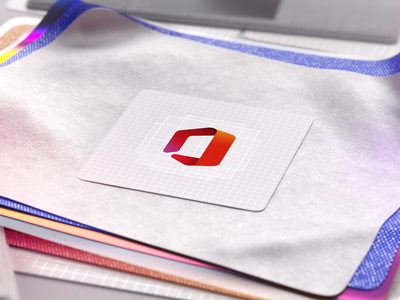 The New Office Icon logo design icon app logo motion design microsoft office microsoft design branding animation 3d animation