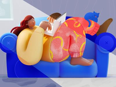 OMG! I'm WFH — Now What?! 3d artist vector artwork art direction illustration 3d art microsoft office design microsoft