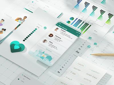 Microsoft Family Safety App ui app design design microsoft family