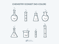 Icon Chemistry Icon shading No color