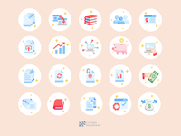 Icons for accounting web services