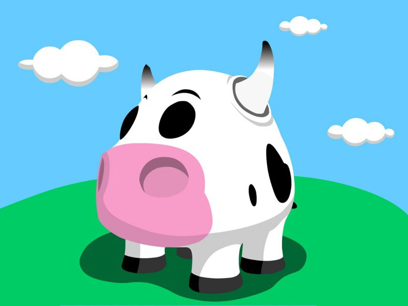 Vector  Cow vector kawaii design illustration