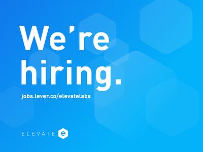 We're hiring at Elevate Labs. designdirector appdesign marketing data engineering designer sanfrancisco remote bayarea remotework remotejobs hiring designjobs jobsite