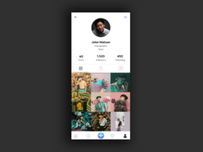 Instagram Profile Page Redesign