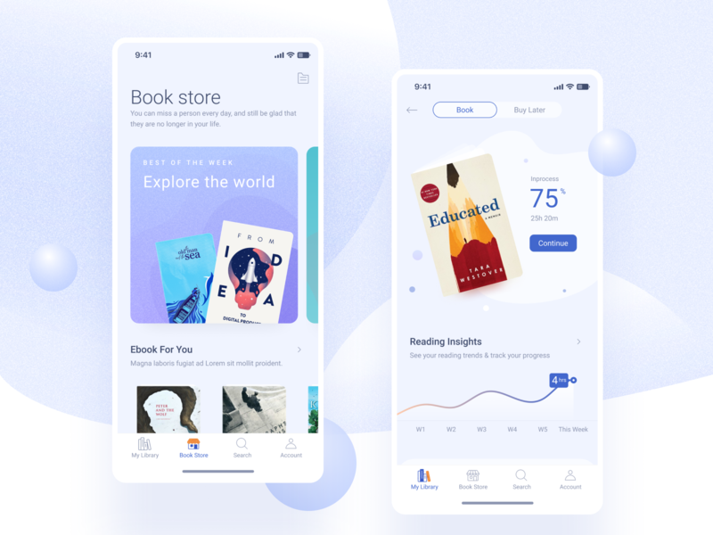 Buuk Store -  The simple book store app for nerfs book ui typography ux website mobile buy icon ecommerce branding ebook button illustration app design flat