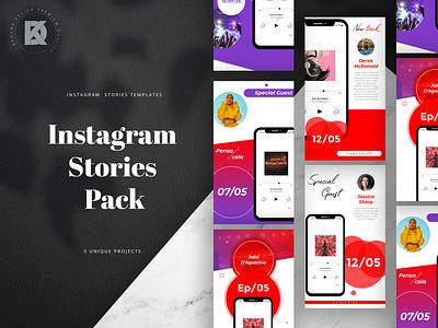 Podcast & Music Social Media Pack kahuna post bundle kit pack media social music podcast photoshop banner instagram