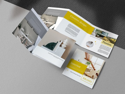 Interior Indesign Brochure kahuna ready modern aesthetics color yellow print indesign square brochure interior