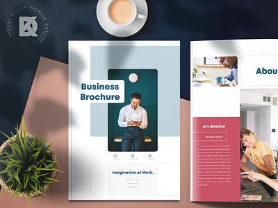 Business Brochure catalog elegant clean team study case service kahuna modern red blue portfolio indesign brochure business