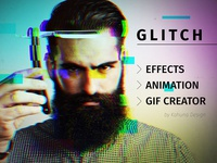 Glitch effect with GIF animation
