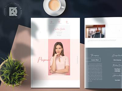 Creative Studio Proposal feminine rustic fancy serif special deluxe casual romantic indesign word women pen pink coral book brochure sweet branding delicate script