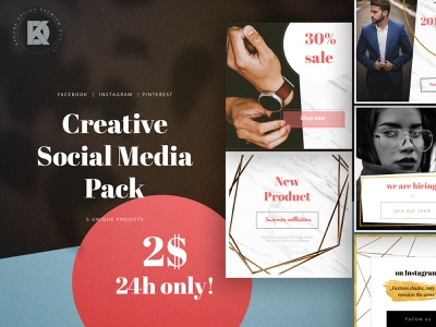 Social Media Pack qoute discount studio granite specific premium logo vogue marble blogger post popular shadow expensive rich gold minimal lifestyle media luxury