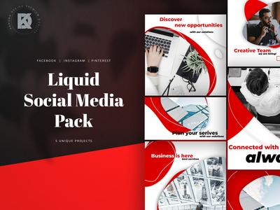 Liquid Social Media Pack