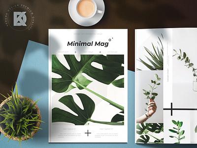 Minimal Magazine kahuna black flower forest tropical shape cross white clean folio photo brochure simple magazine mnimal