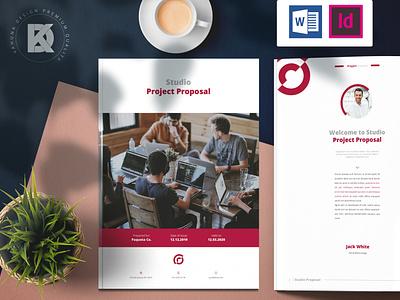Project Proposal minimal brochure indesign project management media social elegant standard photoshop branding delicate offer work job business proposal project