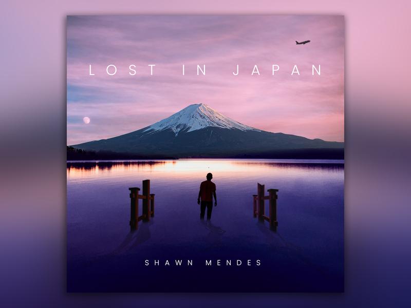Lost in Japan inspired Single art digital design music art digital imaging photoshop album cover