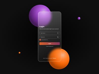 Login UI iOS App Design app ui design