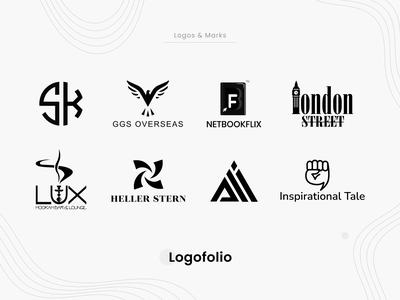 Logofolio clean illustrator art flat minimal collection vector idenity mark logo icon design branding