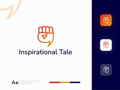 Inspirational Tale Logo Design clean vector minimal mark logo illustrator idenity icon art design