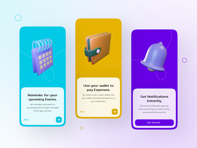 App Onboarding screens (Light Mode) dribbbleshot dribbblers art illustration illustrator icon clean design logo motion graphics branding animation graphic design 3d ui