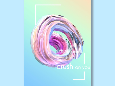 C4D poster design