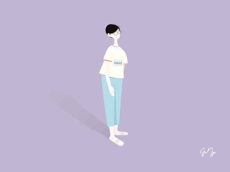 aye say pa' animation logo design vector illustration