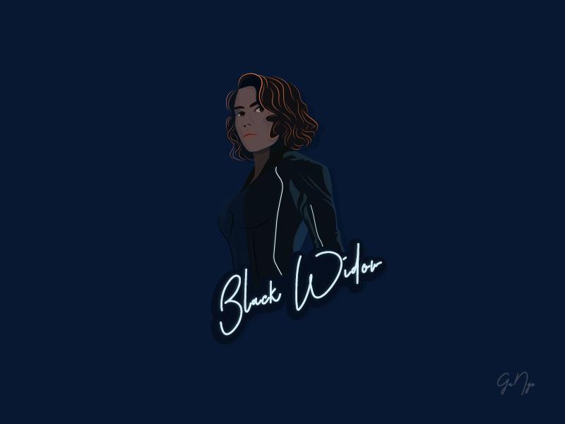 Black Widow animation design vector illustration