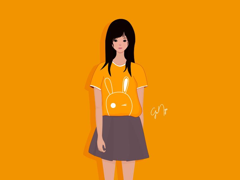 little girl design vector illustration