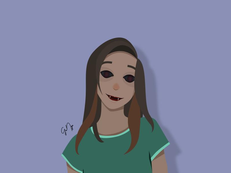 Monster Girl _ Happy design vector illustration