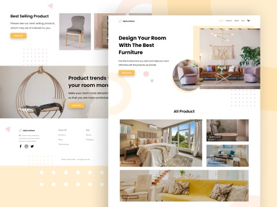 MyFurniture - Exploration Landing Page typography furniture furniture website clean website design exploration landing page ux ui