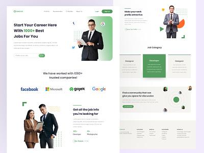 GoletJob - Job Finding Platform clean hiring jobfinding design exploration landing page uiux ui