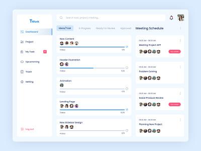 Task Management exploration design clean taskmanagement website uiux ui dashboard