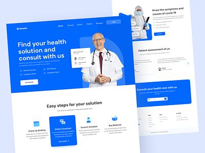 SehatKu - Medical Landing Page covid19 uiux website medicallandingpage medical header ui clean exploration design landing page