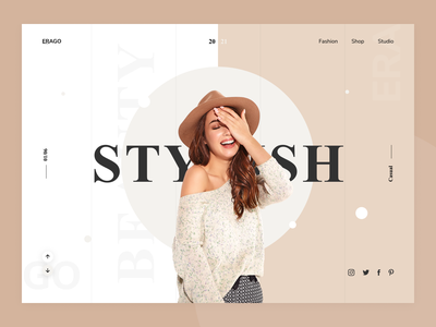 Fashion Web Design fashionwebdesign productdesign fashion header clean exploration design landing page ui