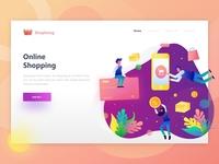Shopping - Online Shop Header Illustration