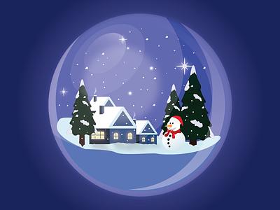 Merry Christmas animation icon hero clean exploration gradient design landing page header vector illustration