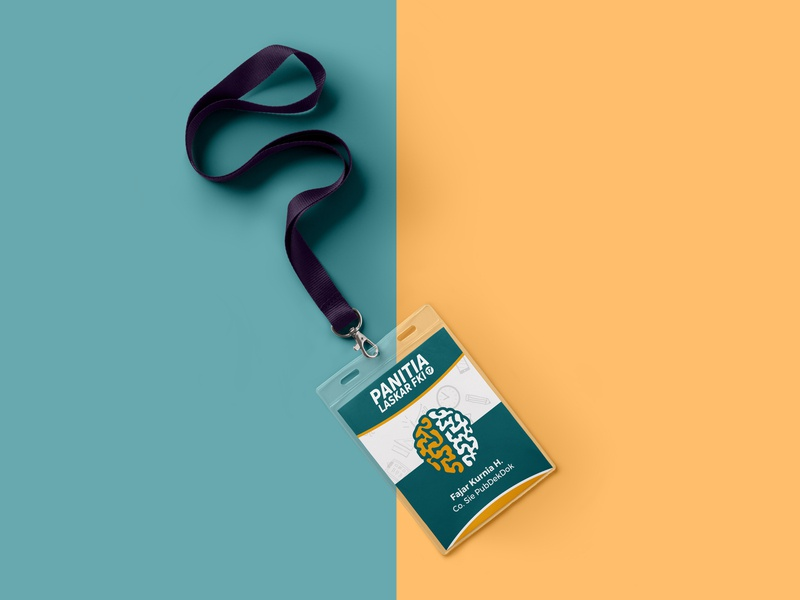 ID Card Design yellow tosca committee events design print design graphic design identity card id card