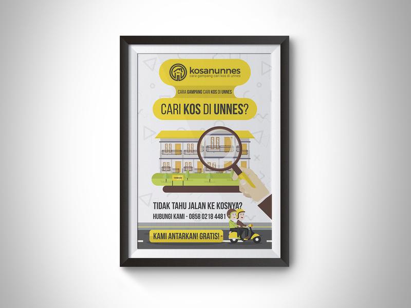 Flyer Design yellow vector illustration graphic design print design searching kos rent pamphlet flyer