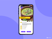 App screen design for traditional food from Indonesia