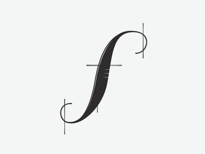 "Custom ""f"" Letterform"