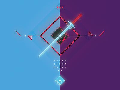 Hyper Light Drifter hyperlightdrifter pixel art pixel poster typography type illustration